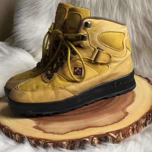Vintage Fila High Top Boots   Poshmark